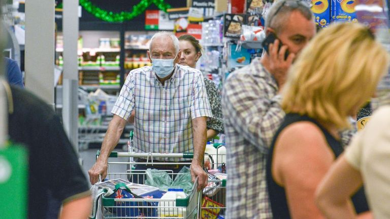 People have been stocking up on supplies now that six-day lockdown is in place