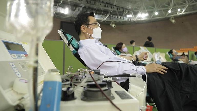 Church members are donating blood plasma to help the battle against COVID