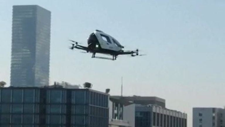 South Korea tests a drone taxi in Seoul