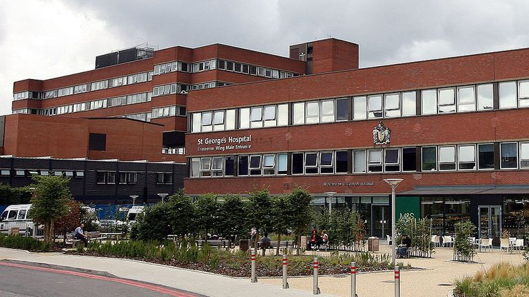 A general view of St George's Hospital in Tooting on July 15, 2009 in London, England