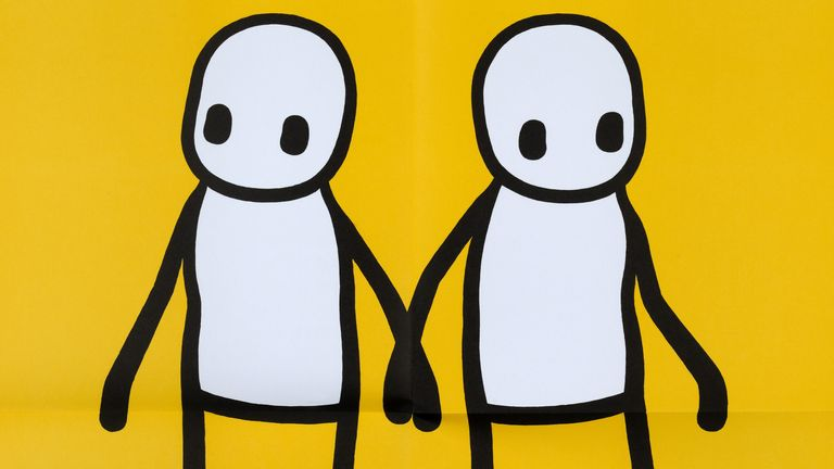 Holding Hands by Stik