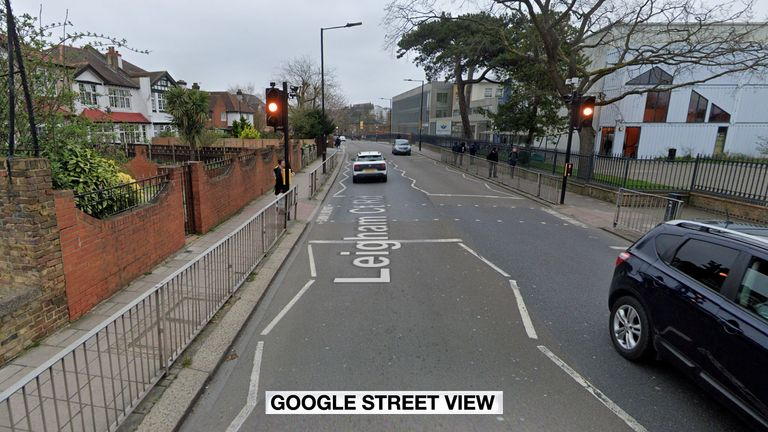 Police were called to Leigham Court Road in Streatham on Wednesday afternoon