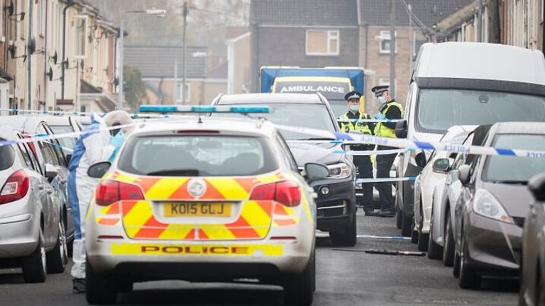 Police and ambulance workers at the scene. Pic: Daniel Jae Webb