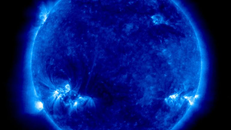 Ultraviolet photo of the sun captured by the EIT on Friday