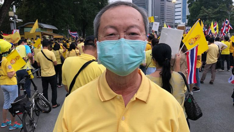 Tawatchai Silamut said he is not sure if pro-democracy protesters understand what they are asking for