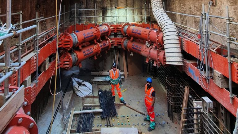 Undated handout pictures from Interserve on Thames Tideway uploaded 30/11/20