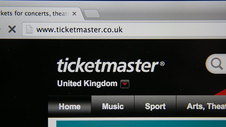 BRISTOL, UNITED KINGDOM - AUGUST 11: In this photo illustration a laptop displays the ticketmaster website on August 11, 2014 in Bristol, United Kingdom. This week marks the 20th anniversary of the first online sale. Since that sale - a copy of an album by the artist Sting - online retailing has grown to such an extent that it is now claimed that 95 percent of the UK population has shopped online and close to one in four deciding to shop online each week. (Photo Illustration by Matt Cardy/Getty