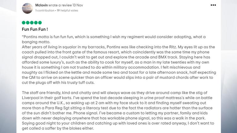 'Pontins was like checking into the Ritz,' says one user. Pic: Tripadvisor