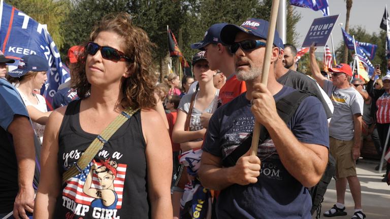 Trump supporters in Phoenix, Arizona