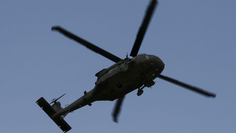 UH-60 Black Hawk helicopter. File pic: Valda Kalnina/EPA-EFE/Shutterstock