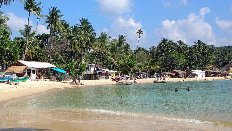 Unawatuna beach, Sri Lanka. Pic: Bernard Gagnon