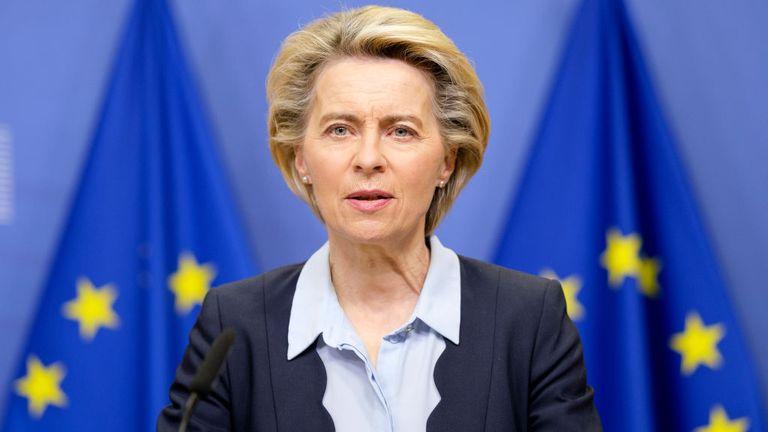 Ursula von der Leyen has said talks between the UK and EU are improving