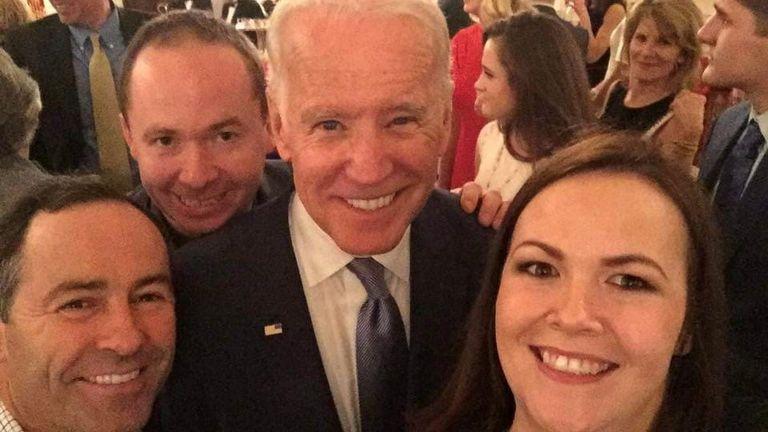 Joe Blewitt gets a selfie with Joe Biden