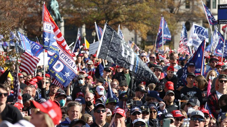 Thousands of Trump supporters joined the Million MAGA March to the US Supreme Court