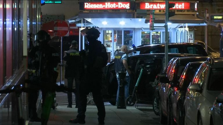 Armed police in Vienna