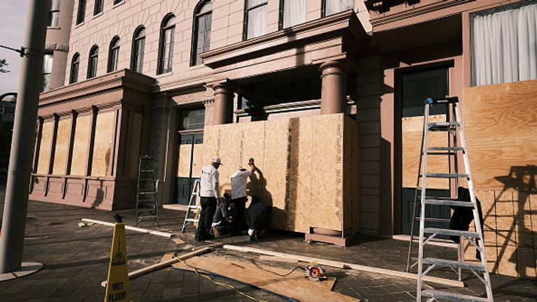 Many places boarded up for election night - and some have yet to take it down