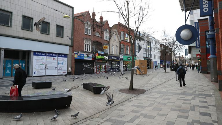 A quiet Worcester High Street