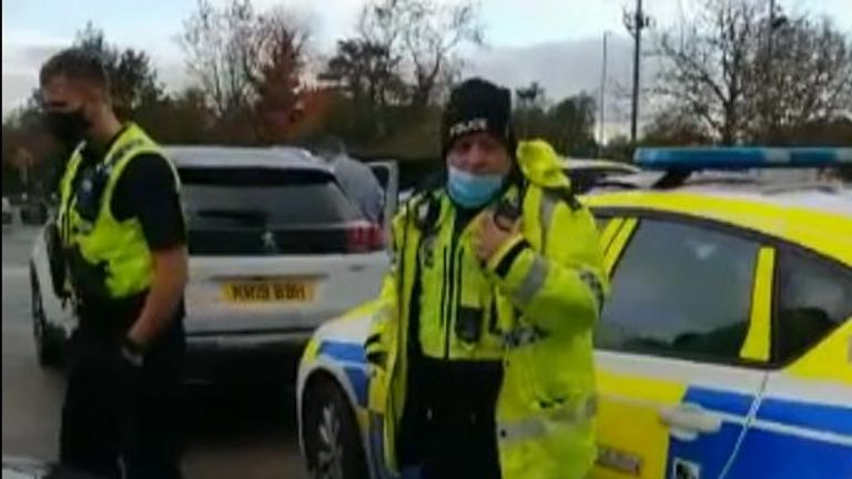 Police arrived after Ms Angeli tried to take her mother out of the care home
