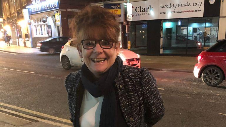 Marie Amos says she is treating tonight like Christmas Eve