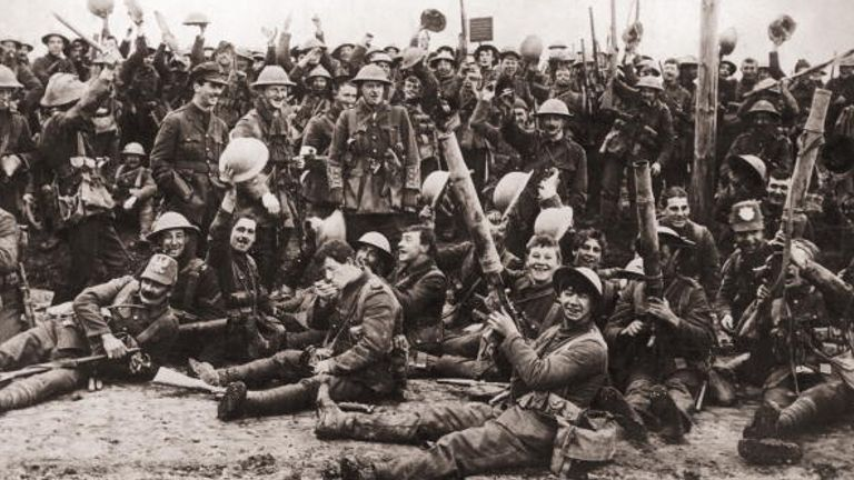 The Royal Northumberland Fusiliers near Ypres in 1916 - one of the areas where a body was taken from