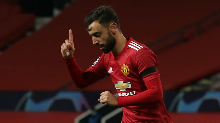 Ole Gunnar Solskjaer described Bruno Fernandes as a winner who 'likes to take risks' after the midfielder shone in Manchester United's Champions League victory over Istanbul Basaksehir