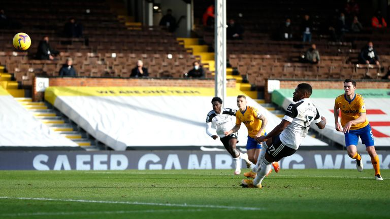 Fulham's Ivan Cavaleiro slipped at the inopportune moment as he missed from 12-yards in the 3-2 defeat to Everton in the Premier League, it is the third spot kick that The Cottagers have missed this season.