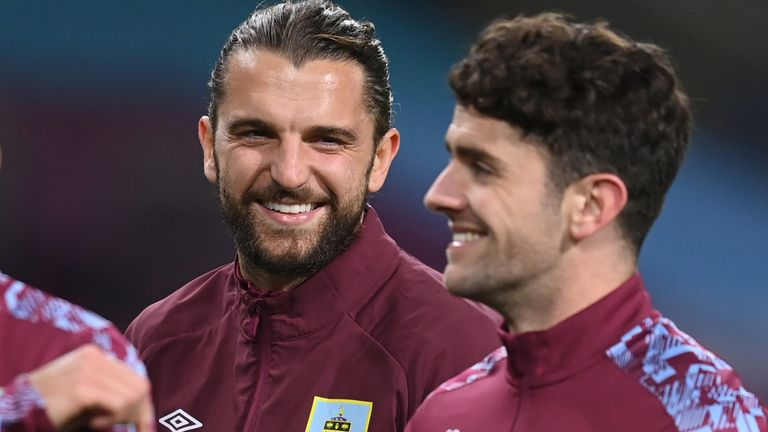 Jay Rodriguez and Robbie Brady of Burnley
