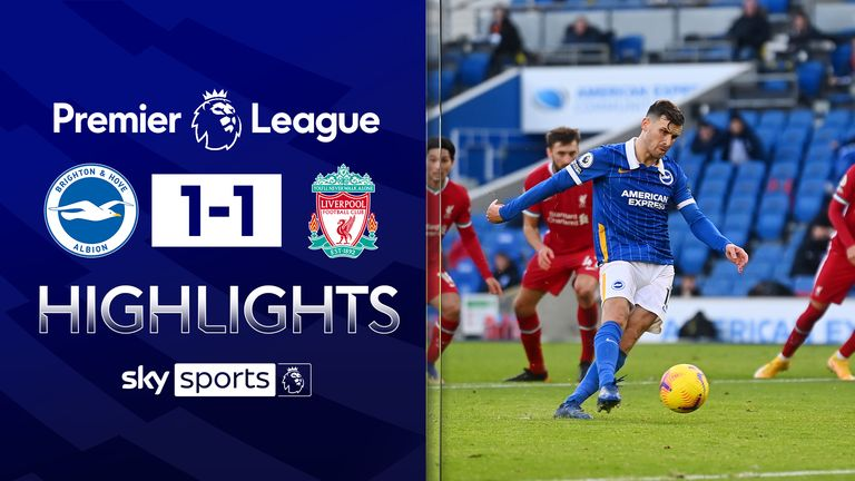 FREE TO WATCH: Highlights from Brighton's draw against Liverpool in the Premier League