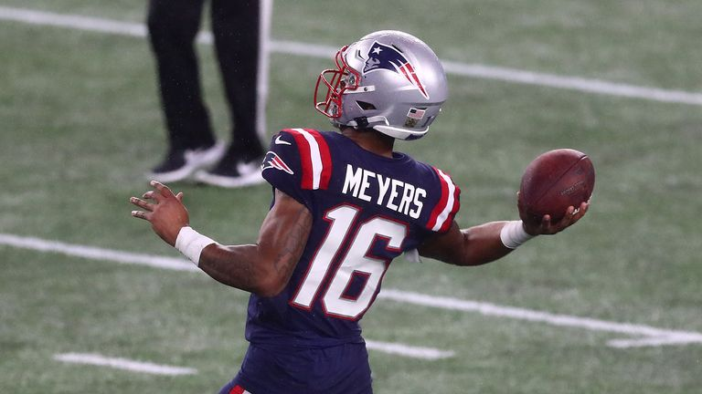 Wide Receiver Jakobi Myers throws a perfect 24 yard touchdown pass to Rex Burkhead in the New England Patriots victory over the Baltimore Ravens.