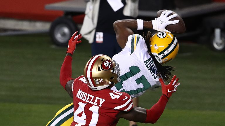 Watch every catch by Adams from his 173-yard game against the San Francisco 49ers