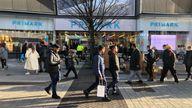 Birmingham shops reopen 2/12/2020 Primark