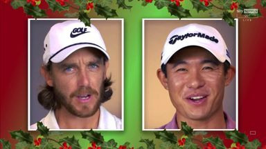 Golfers sing Christmas message!