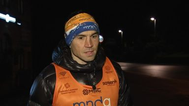 Sinfield begins charity marathons for MND