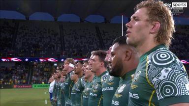 Wallabies sing anthem in indigenous language