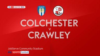 Colchester 1-1 Crawley