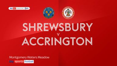 Shrewsbury 2-2 Accrington