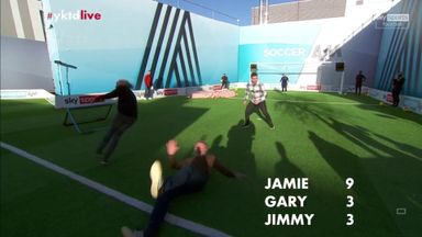 Carragher wipes out Bullard on Soccer AM
