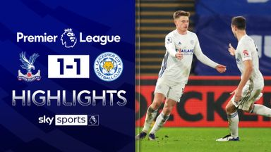 Barnes earns Leicester a point at Palace