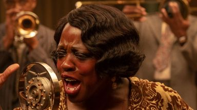 Viola Davis is celebrated blues singer Ma Rainey. Pic: Netflix