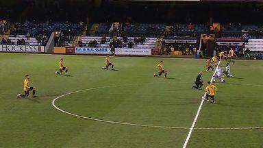Cambridge v Colchester: Boos as players take a knee