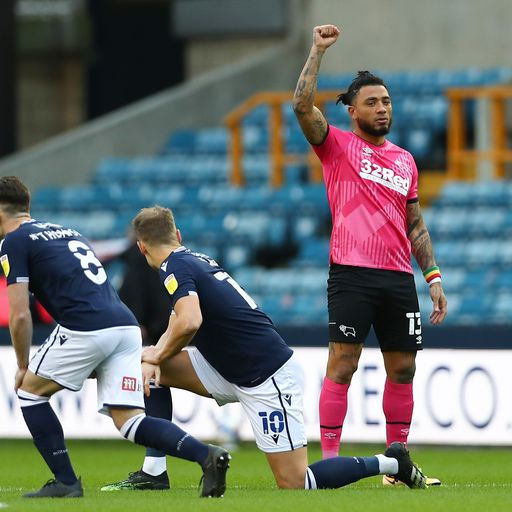Millwall fans boo as players take the knee in support of Black Lives Matter movement