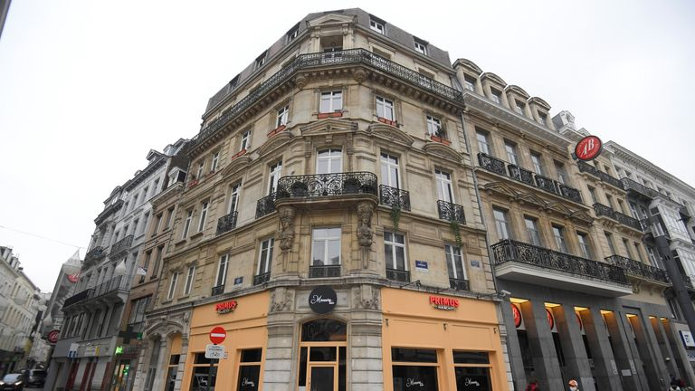 """A picture taken on December 2, 2020 in Brussels shows a view of the """"Monroe Bar"""", where a conservative Hungarian MEP and close ally of Prime Minister was caught by Belgian police fleeing a lockdown-busting party on November 27, 2020. - Hungarian MEP Jozsef Szajer, who helped write Hungary's constitution, apologised after Belgian and resigned over the weekend for what he said were """"personal reasons"""" but admitted he had received a police caution and was found in possession of ecstasy. (Photo by LAURIE DIEFFEMBACQ / BELGA / AFP) / Belgium OUT (Photo by LAURIE DIEFFEMBACQ/BELGA/AFP via Getty Images)"""