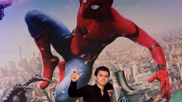 SEOUL, SOUTH KOREA - JULY 03:  Tom Holland attends the 'Spider-Man: Homecoming' press conference at Conrad Seoul Hotel on July 3, 2017 in Seoul, South Korea.  (Photo by Chung Sung-Jun/Getty Images)