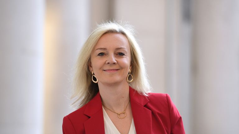International Trade Secretary Liz Truss arrives at the Foreign and Commonwealth Office (FCO) in London, for a Cabinet meeting held at the FCO.