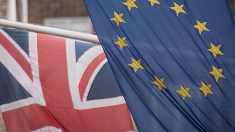 File photo dated 17/2/2016 of the EU and Union flags. More than 100 Westminster constituencies which backed Leave in the 2016 referendum would now vote to remain in the European Union, according to new analysis of polling.