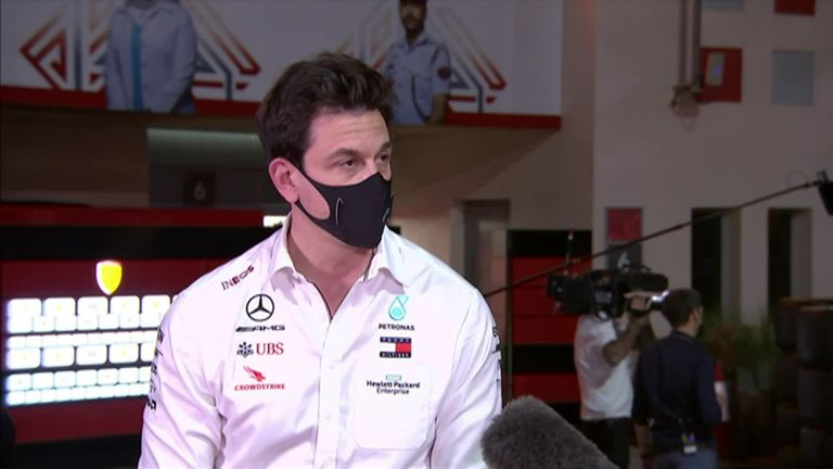 Mercedes team principal Toto Wolff on his frustration at their pit-stop mix-up, George Russell's performance, and the latest on Lewis Hamilton