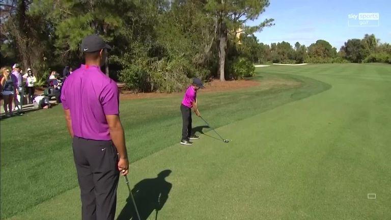 Tiger Woods' 11 year old son makes eagle on par five ...