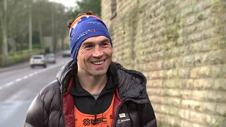Sinfield feels 'completely overwhelmed' after passing the £1m mark for the Motor Neurone Disease Association. He has since passed £2m