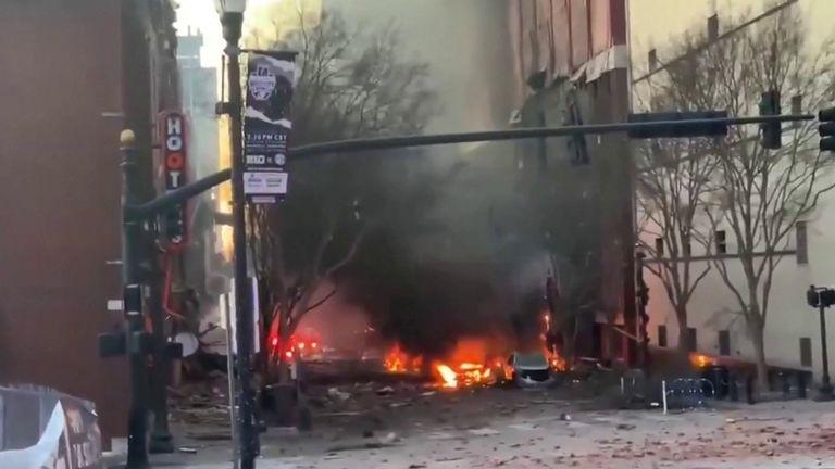 Nashville explosion blast site