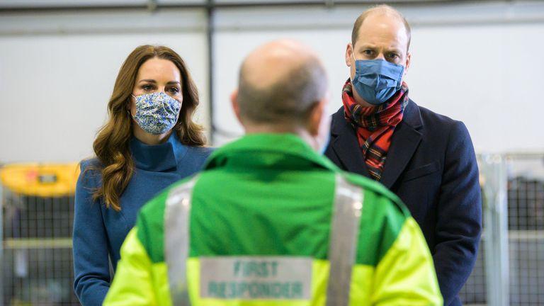 William and Kate met staff at the Scottish Ambulance Service response centre in Newbridge